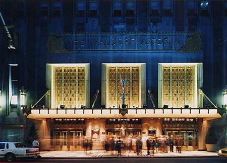 Hôtel Waldorf Astoria New York la nuit